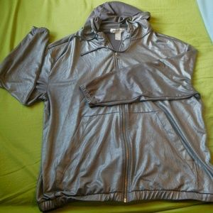 H&M Coachella Collection Metallic Silver Jacket
